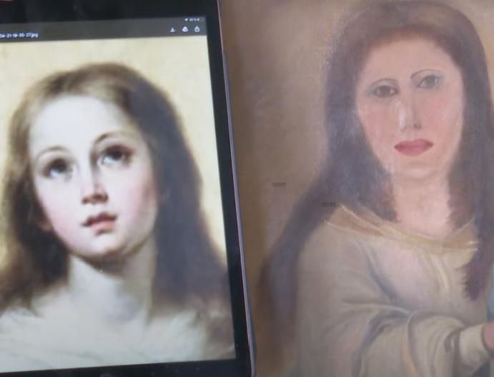 17th Virgin Mary botched cleaned 'furniture restorer'