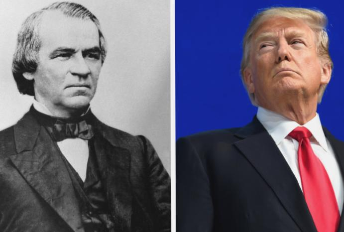 Andrew Johnson: Why was impeached is Trump version?