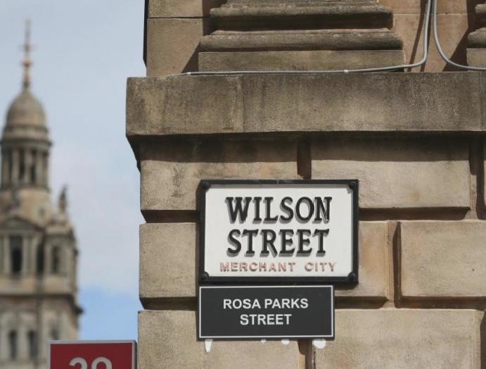 Anti-racism campaigners rename Glasgow streets linked