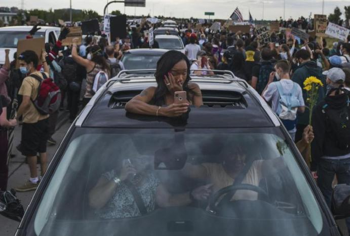 Aurora protest: One drives Black Lives Matter demonstrators Colorado