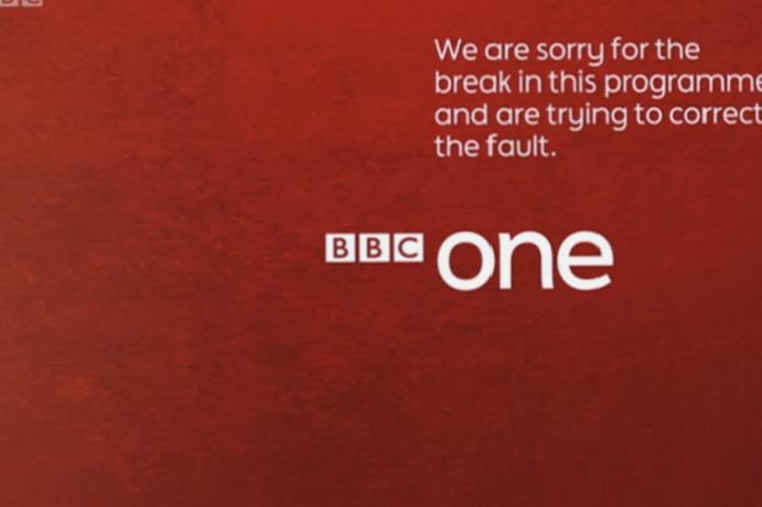 BBC One goes off-air Storm Ciara