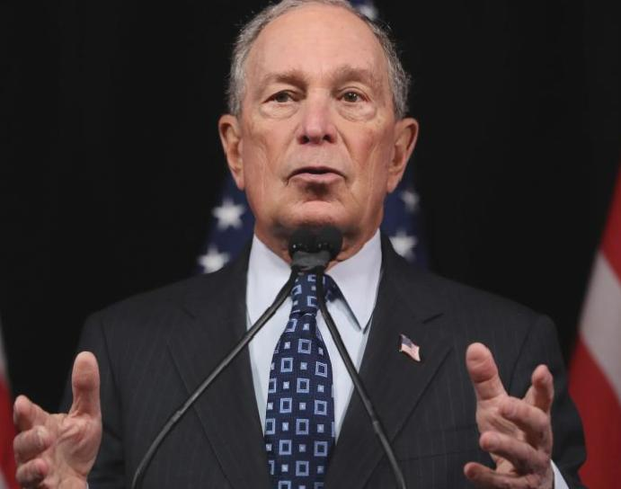 Bloomberg contrasts Trump's foul-mouthed outbursts inspiring statements presidents
