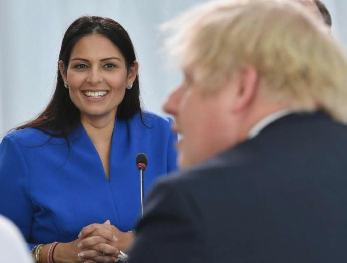 Boris Johnson – live: PM Brexit collision France 'blackmail' claim, furious Priti Patel demands leak bullying allegations