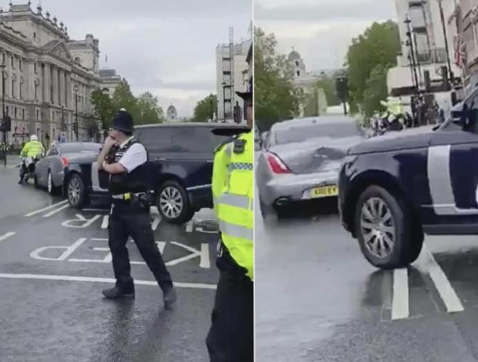 Boris Johnson's collision protester targeted convoy