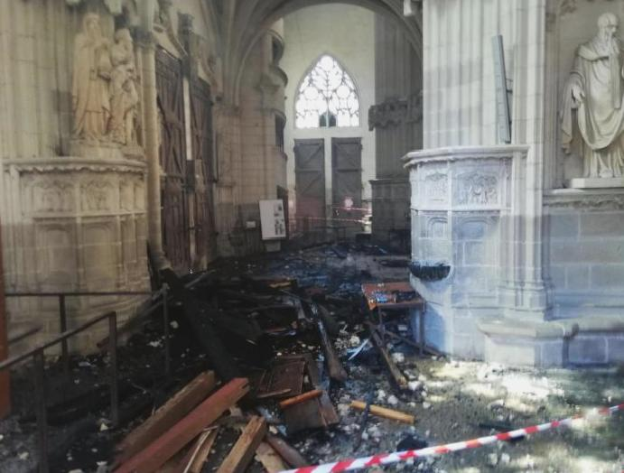 Church admits arson Nantes cathedral