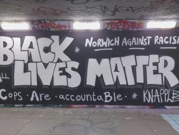 Council paints Black Lives Matter mural 'offensive graffiti'