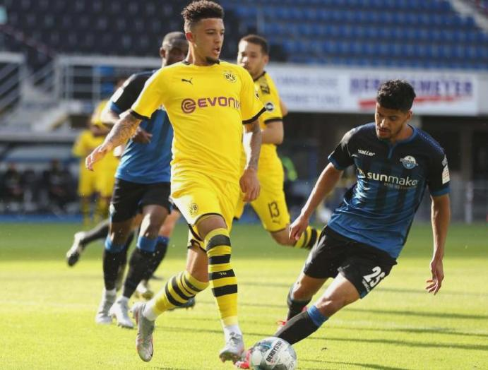 Dortmund's Jadon Sancho labels getting haircut wearing 'absolute joke'