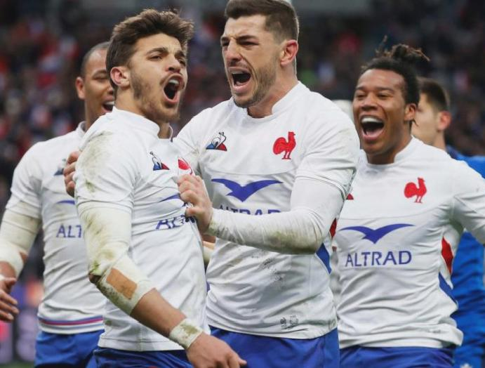 Five-try France Six Nations standings Italy