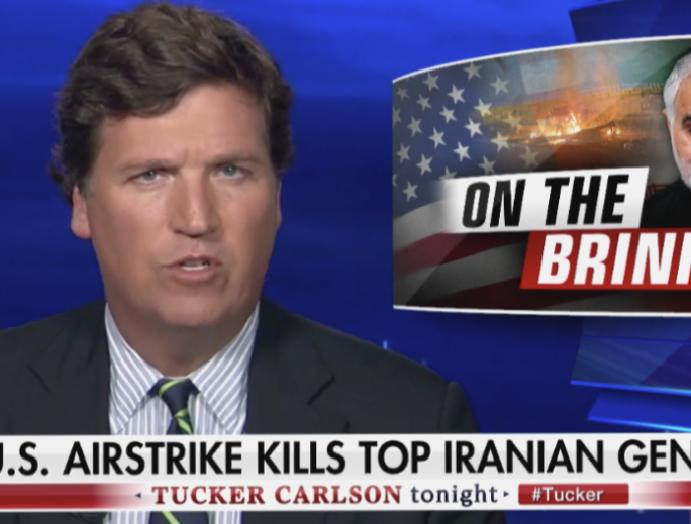 Fox News' Tucker Carlson challenges Trump assassinate Iran