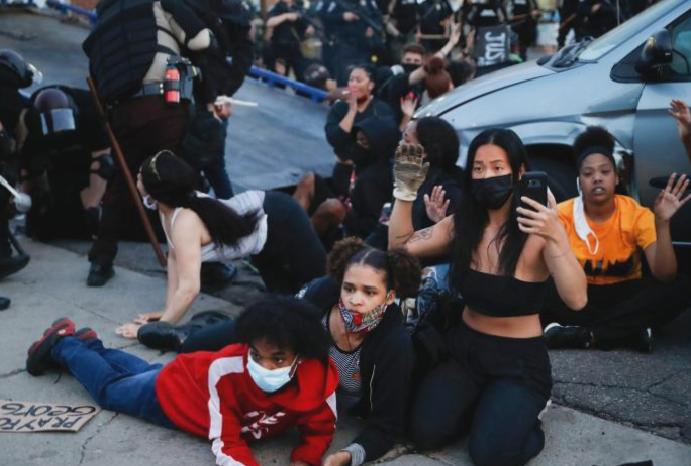 George Floyd: Fury dozens Minneapolis protesters mowed 'arrested rights'