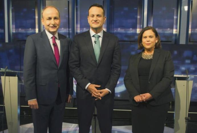 Irish - live: Polls Sinn Fein Varadkar struggles days