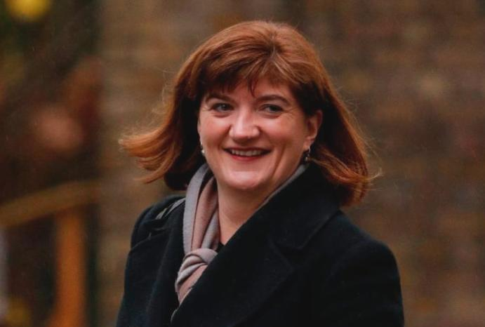 It took Nicky Morgan's feet