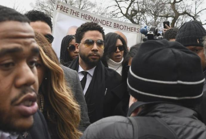 Jussie Smollett pleads staging racist homophobic