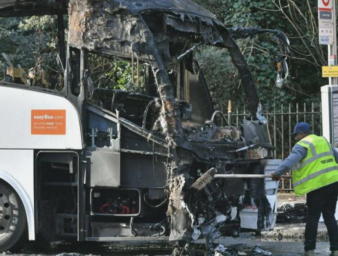 London crash: Woman injured collides National Express