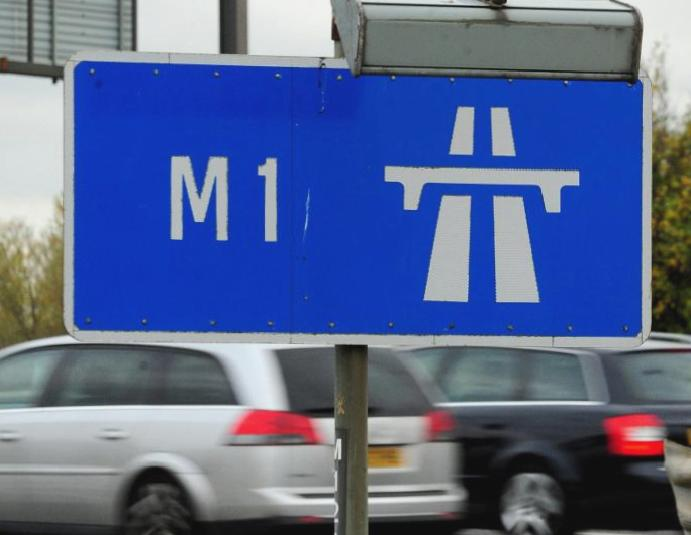 M1 crash: Motorway collision lorries