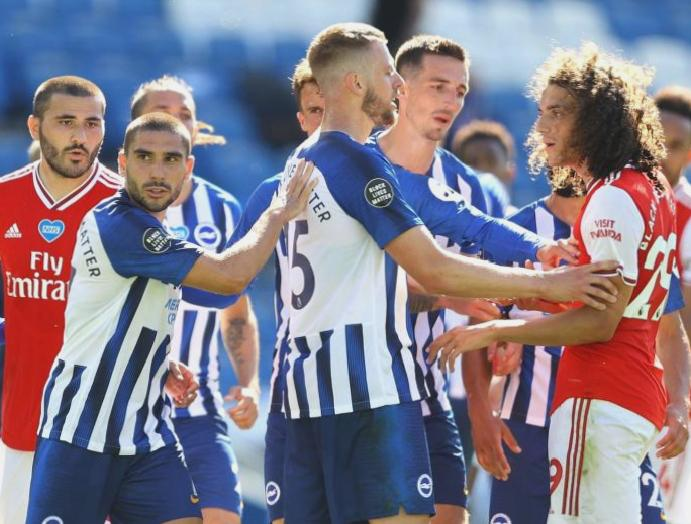 Matteo Guendouzi escapes Neal Maupay Arsenal's Brighton