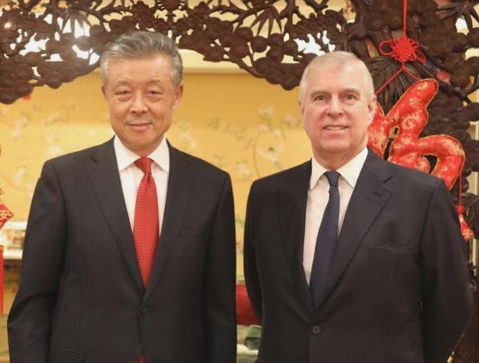 Prince Andrew delivers 'message Queen' China coronavirus