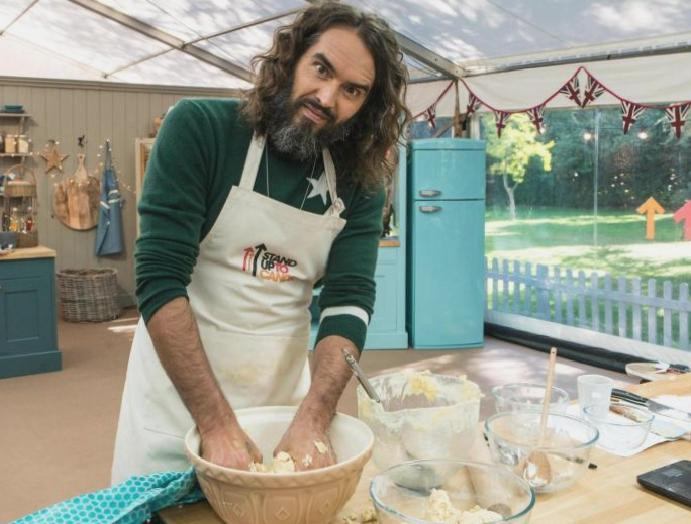 Russell Brand shocks Bake Off judges making biscuit vagina