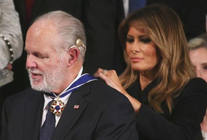 State Union: Rush Limbaugh Medal Freedom Melania Trump