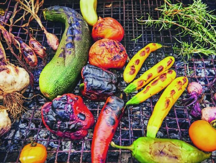 Summer cooking: The grill meat, vegetables barbecue, chefs