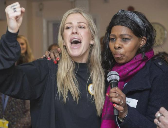 The Homeless Fund: Ellie Goulding hails 'crucial' fundraising heartwarming Christmas women