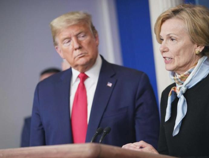 The President Trump, Dr Anthony Fauci Dr Deborah Birx