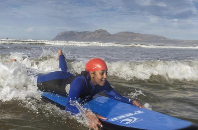 The surf helping autistic children