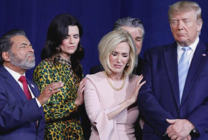 Trump prays listing favourite Fox News hosts: 'Rush, Sean, Laura, Tucker... people'