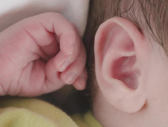 World's newborns deafness swab