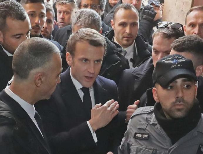 'Respect rules': Macron yells Israeli French Jerusalem