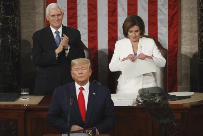 'She ripped one!': Nancy Pelosi hailed 'queen' tearing Trump's State Union